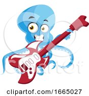 Octopus Playing Guitar