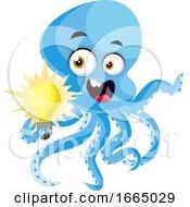Octopus Holding Lightbulb