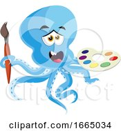 Octopus With Color Palette