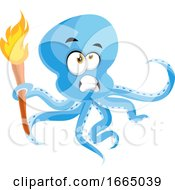 Octopus With Torch