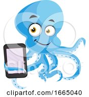 Octopus With Tablet