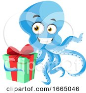 Octopus With Gift