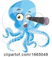 Octopus With Telescope