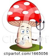 Angry Mushroom With Spear