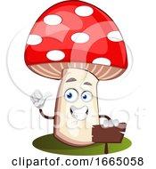 Mushroom With Sign