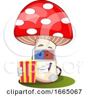 Poster, Art Print Of Mushroom With 3d Glasses