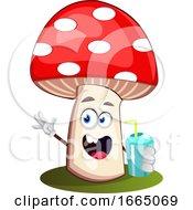 Mushroom Drinking Soda