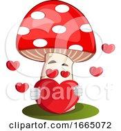 Poster, Art Print Of Mushroom In Love