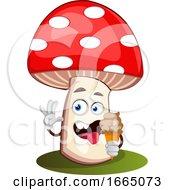 Mushroom Eating Ice Cream