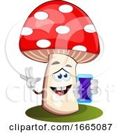 Mushroom With Cellphone