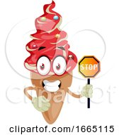 Ice Cream With Stop Sign