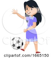 Girl With Football by Morphart Creations