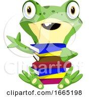 Nerd Baby Frog Carrying Books