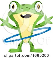 Happy Frog Dancing With The Hula Hoop