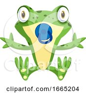 Cute Baby Frog With A Pacifier