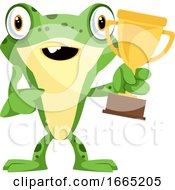 Happy Frog Mascot Won A Trophy