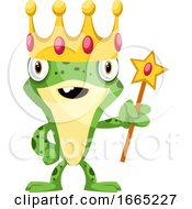 Happy Frog As A King