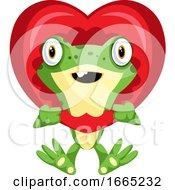 Poster, Art Print Of Cute Frog In Love