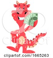 Red Dragon Is Holding Money