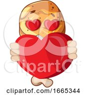 Fried Chicken Leg In Love Holding A Heart