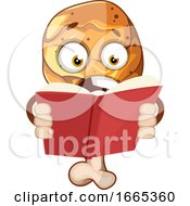 Surprised Chicken Leg Reading A Book