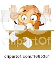 Poster, Art Print Of Nervous Chicken Leg As A Businessman