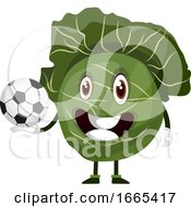Cabbage Is Holding A Soccer Ball by Morphart Creations