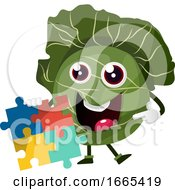 Poster, Art Print Of Cabbage With A Puzzle