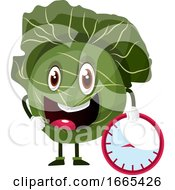 Cabbage Is Holding A Clock