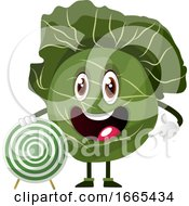 Cabbage With Target Board
