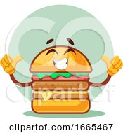 Thumbs Up Happy Burger