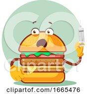Burger Is Holding A Syringe