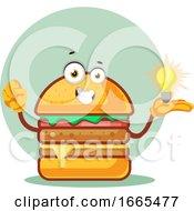 Burger Is Holding A Light Bulb