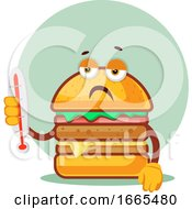 Burger Is Holding A Thermometer That Shows Hot Temperature