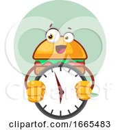 Burger Is Holding A Clock