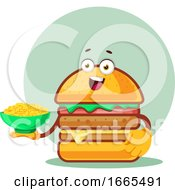 Burger Holds A Pasta Plate