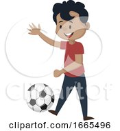 Boy Is Playing Football by Morphart Creations