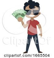 Boy Is Holding Money
