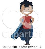 Boy Is Wearing Cloak