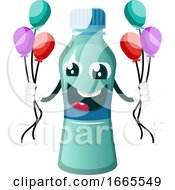 Bottle Is Holding Balloons