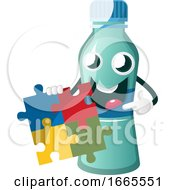 Poster, Art Print Of Bottle Is Holding Puzzle