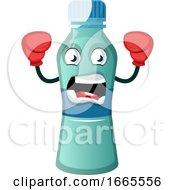 Bottle Is Wearing Boxing Gloves