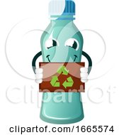 Bottle Is Holding Recycle Sign