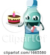 Bottle Is Holding Cake