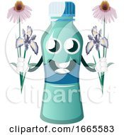 Bottle Is Holding Flowers