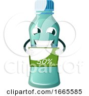 Bottle Is Holding Discount Sign