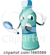 Bottle Is Looking Through Magnifying Glass