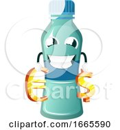 Bottle Is Holding Currency Signs
