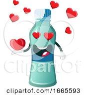 Poster, Art Print Of Bottle Is Holding Heart
