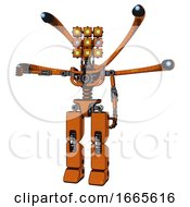 Automaton Containing Dual Retro Camera Head And Cube Array Head And Light Chest Exoshielding And Blue Eye Cam Cable Tentacles And No Chest Plating And Prototype Exoplate Legs
